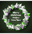 Beautiful Christmas wreath of stylized triangular vector image vector image