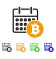 bitcoin calendar icon vector image vector image