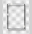 black shiny vintage square frame isolated on vector image vector image