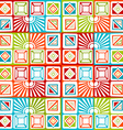 Bright seamless geometric pattern vector image vector image