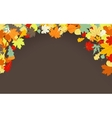 Brown autumnal background EPS 8 vector image vector image