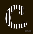 c letter formed parallel lines a letter made vector image vector image