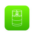 candle glass icon green vector image vector image