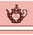 Card with teapot vector image