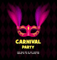 carnival party logo realistic style vector image vector image