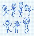 Cartoon Dancing People vector image vector image