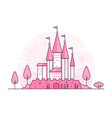 castle - thin line design style vector image vector image