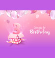 celebrating 3 years birthday 3d vector image vector image