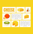 cheese banner template with place for text vector image