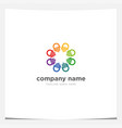circle hand together teamwork charity vector image