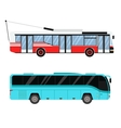 City road bus and trolleybus transport vector image vector image