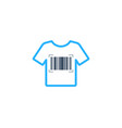 cloth barcode logo icon design vector image