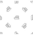 cloud reading pattern seamless vector image vector image