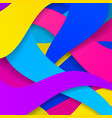 colorful modern background with curved lines vector image vector image