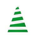 creative christmas tree card origami vector image vector image