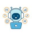 cute smiling robotchat bot vector image vector image