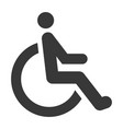 disabled black icon special rehabilitation vector image vector image