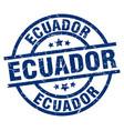 ecuador blue round grunge stamp vector image vector image