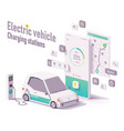 electric vehicle charging stations app vector image
