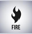 fire flame logo icon vector image vector image