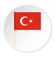 flag of turkey icon circle vector image vector image
