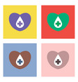 flat icon design collection heart with a cross vector image vector image