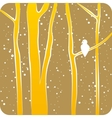 forest in winter vector image