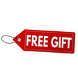 free gift label or price tag vector image vector image