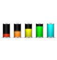 full energy battery charge vector image vector image