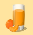 Full glass of orange juice vector image vector image