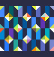 geometric abstract seamless pattern patchwork vector image vector image
