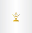 golden chalice people logo vector image