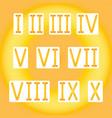 golden roman numerals golden radiant vector image