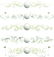 golf floral banners vector image vector image