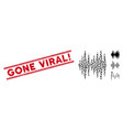 grunge gone viral exclamation line seal vector image vector image
