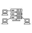 hostingnetwork servers line icon sign vector image vector image