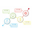 infographic workflow layout diagram number vector image vector image