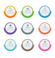 infographics circle paper index with 9 data vector image vector image