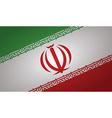 iran flag vector image vector image