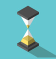 isometric abstract simple hourglass vector image