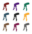legs icon in black style isolated on white vector image