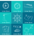 Marine and vacation isolated doodles elements vector image vector image