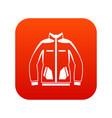 men winter jacket icon digital red vector image vector image