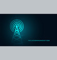 mobile telecommunication digital tower background vector image vector image