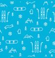 mountain skiing or snowboarding concept seamless vector image