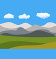 natural cartoon landscape in the flat style vector image