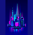 night neon city vector image vector image
