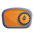 old radio icon cartoon style vector image