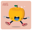 Orange Character Isolated vector image vector image