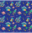 pattern on space topic vector image